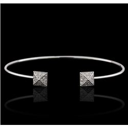 14KT White Gold 0.17ctw Diamond Bangle Bracelet