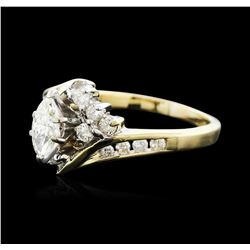 14KT Two-Tone Gold 0.75ctw Diamond Ring