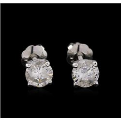 0.75ctw Diamond Stud Earrings - 14KT White Gold