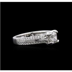 1.36ctw Diamond Ring - 18KT White Gold
