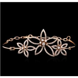1.51ctw Diamond Bracelet - 14KT Rose Gold