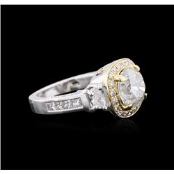14KT Two-Tone Gold 4.28ctw Diamond Ring