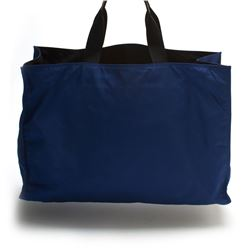 Prada Blue Oversized Nylon Tote Bag
