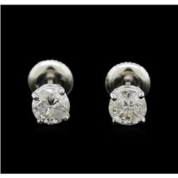 1.19ctw Diamond Stud Earrings - 14KT White Gold