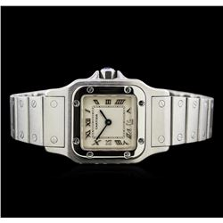 Cartier Stainless Steel Santos Galbee Watch