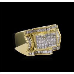 14KT Yellow Gold 2.71ctw Diamond Ring