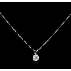 0.59ct Diamond Pendant With Chain - 14KT White Gold