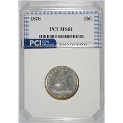 1876 SEATED LIBERTY QUARTER PCI BU