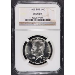1965 SMS KENNEDY HALF DOLLAR, NGC MS-67* ( STAR