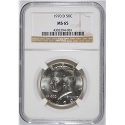1970-D KENNEDY HALF DOLLAR, NGC MS-65  ( BETTER DATE )