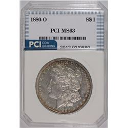 1880-O MORGAN SILVER DOLLAR, PCI CHOICE BU
