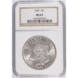 1882 MORGAN DOLLAR NGC MS63 WHITE