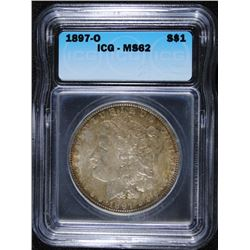 1897-O MORGAN DOLLAR ICG MS62