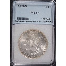 1899-S MORGAN DOLLAR GEM BU SEMI-KEY