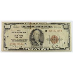1929 FEDERAL RESERVE BANK OF NEW YORK $100