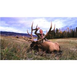 *British Columbia – 7 Day- Rocky Mountain Elk Hunt One Hunter