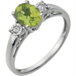 Michigan – Peridot or Amethyst and Diamond Ring