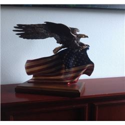"Oregon - ""Brave Glory ""- Lorenzo Ghiglieri -  Bald Eagle Bronze"