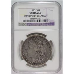 1893 MORGAN DOLLAR NGC VF DETAILS KEY COIN