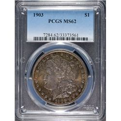 1903 MORGAN SILVER DOLLAR, PCGS MS-62