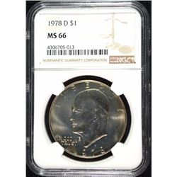 1878-D EISENHOWER DOLLAR, NGC MS-66!