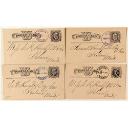 Four Distinctive Dillon, Beaverhead Colored Cancels