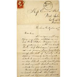 Very Early Helena, Lewis & Clark Territorial Cover with Letter