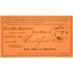 Lincoln, Lewis & Clark Rare Territorial Cancel
