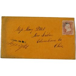 1866 Nevada City Straight Line Cancel