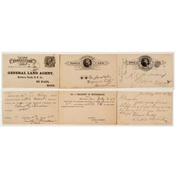 Three Strong Sheridan Territorial Postal Cards