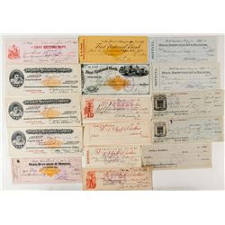 Montana Check Collection: Butte, Dillon, Deer Lodge, Pony (incl. RN & Pictorial)