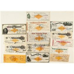 Rare Montana Revenue Check Collection (RN)