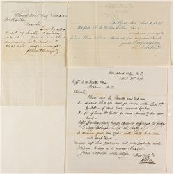 Three Blackfoot, Montana Letters (1874, 1875, 1876)
