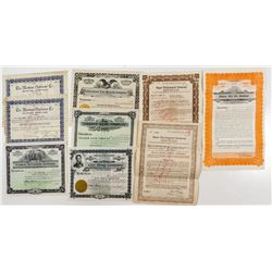 Miscellaneous Montana Stock Certificates & Bonds