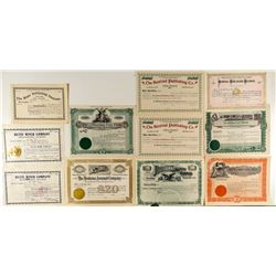 Montana Publishing Company Stock Certificates