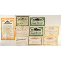 Montana Water & Flume Company Stock Certificates