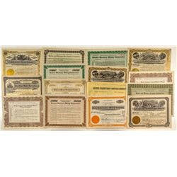 Fifteen Different Butte Mining Stock Certificates