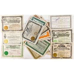 Butte MIning Stock Certificate Collection