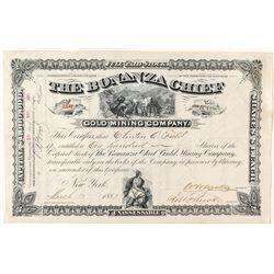The Bonanza Chief Gold Mining Company Stock Certificate