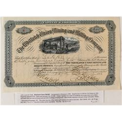 Whitlatch Union Mining & Milling Co. Stock Certificate