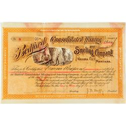 Bedford Consolidated Mining & Smelting Company Stock Certificate