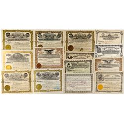 15 Montana Mine Stock Certificates