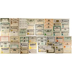 55 Unissued Montana Mining Stock Certificates