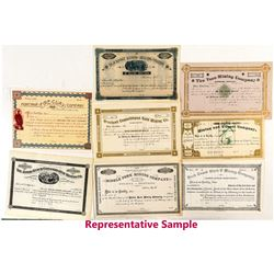 Binder Full of Unissued Montana Stock Certificates