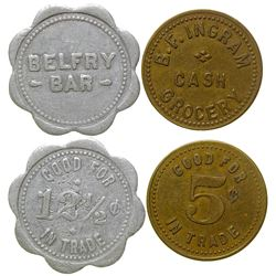 Belfry Bar/ B. F. Ingram Tokens (Belfry, Montana)