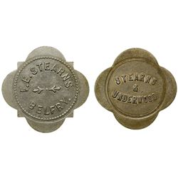 Two Stearns Tokens (Belfry, Montana)
