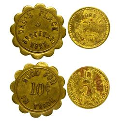 Two R-7 Brockway Tokens (Brockway, Montana)