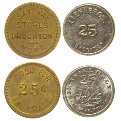 Two Brockton Tokens (Brockton, Montana)