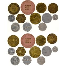 Twelve Board of Trade Tokens (Butte, Montana)