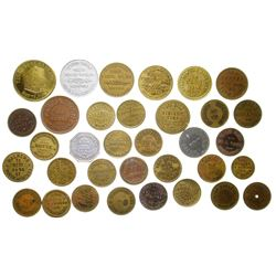 Butte Brass Token Collection (Butte, Montana)